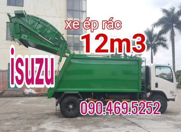 xe isuzu ép rác 12m3