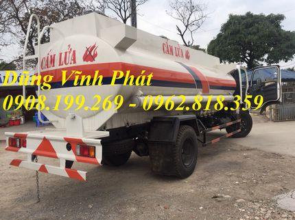 xe téc chở xăng dầu isuzu 11 khối