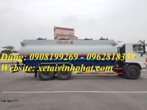 xe téc chở ăng dầu 19 khối hino