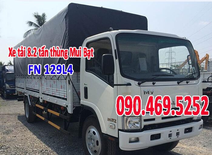 xe tải thùng dài 7 m isuzu fn129