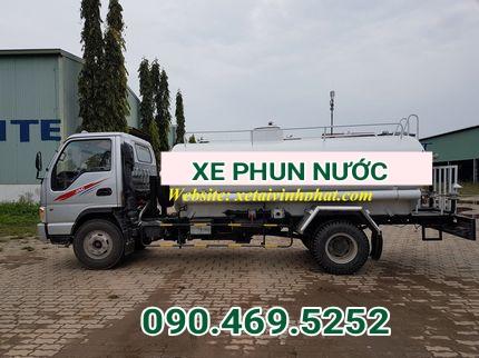 xe phun nước rửa đường vĩnh phát