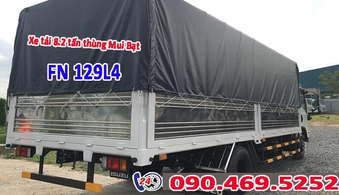 thùng bên xe tải fn129 dài 7m