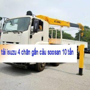xe tải isuzu 4 chấn gắn cẩu 10 tấn`