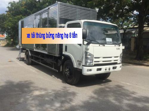 xe tải thùng bửng nâng hạ 8 tấn