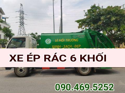 xe ép rác 6 khối