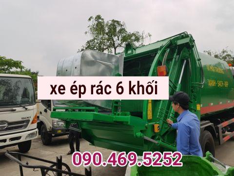 xe ép rác 6 khối jac
