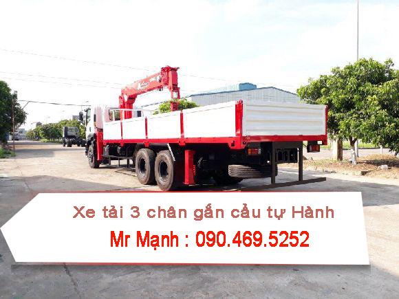 xe tải isuzu 3 chân gắn cẩu tự hành