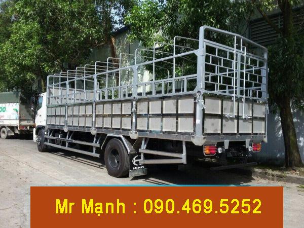 xe tải hino 8 tấn mui bạt