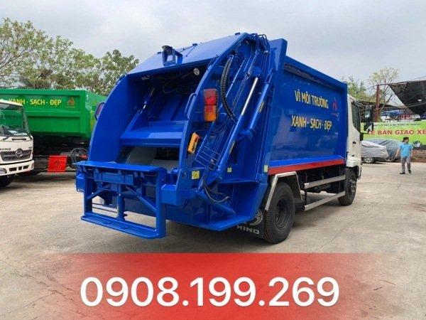 xe cuốn ép rác hino 9 khối FC9JETCA