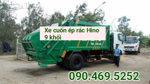 xe cuốn ép rác Hino 9 khối Fc