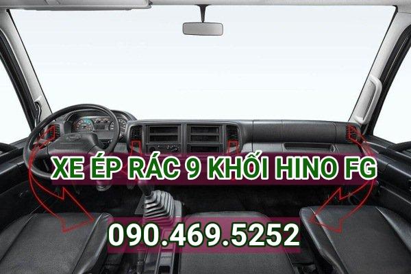 thân xe ép rác 9 khối Hino