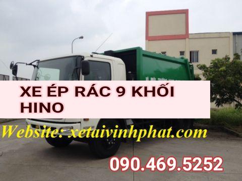 xe cuốn ép rác 9 khôi Hino