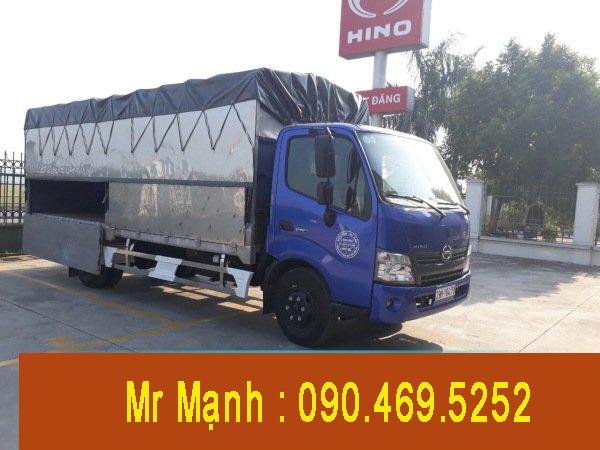 xe tải hino 4,5 tấn thùng mui bạt