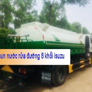 xe phun nước rửa đường 8 khối isuzu